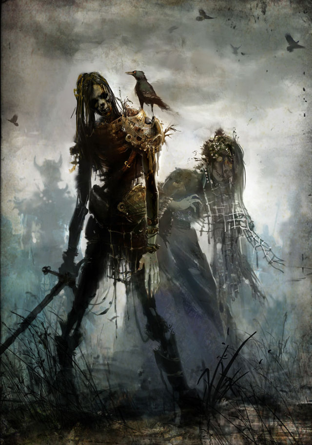 640x912 3296 undead 2d fantasy guild wars undead picture image digital art