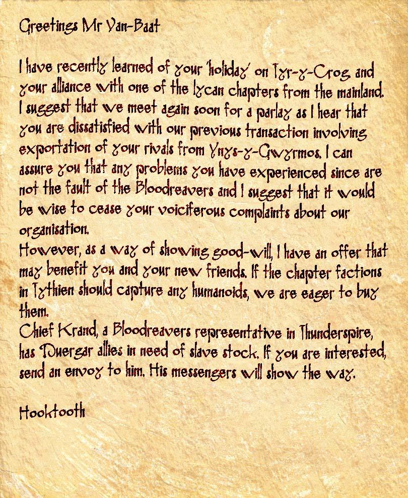 Hooktooth letter