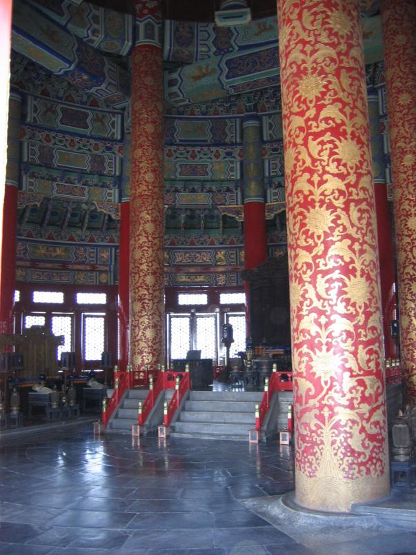 Temple of heaven pagoda interior 20060717