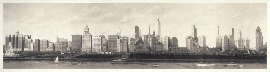 Copyright summertown sun chicago skyline 1927 r brdrlssnorrowerbrder notext 900pix wide for web