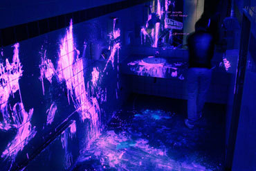 Black light bathroom