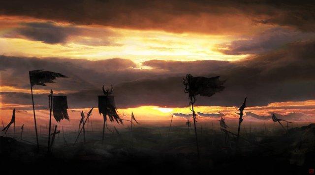 Battlefield 2d fantasy landscape picture image digital art
