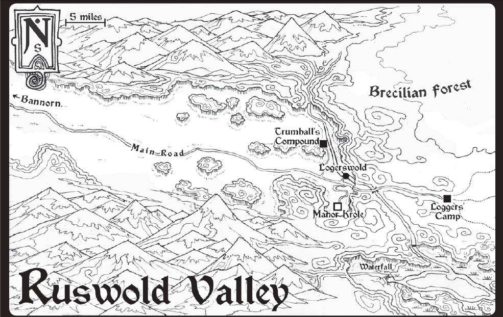 Ruswold valley map