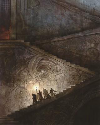 Deep stairs