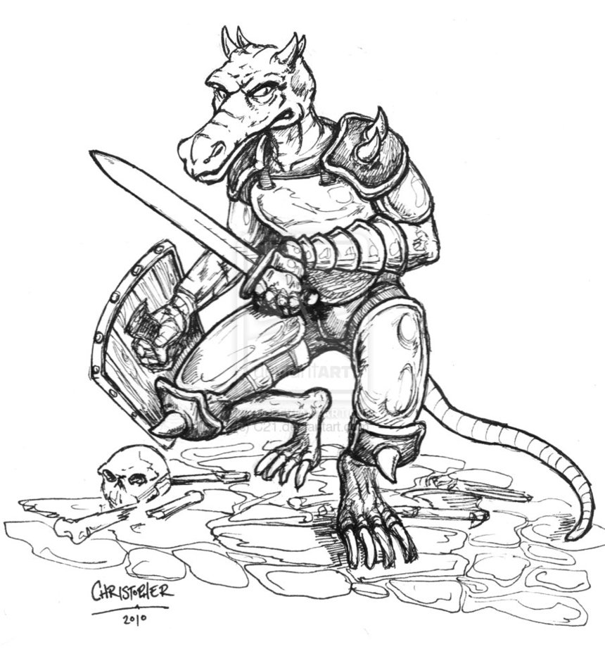 Kobold knight by c21 d36h58k