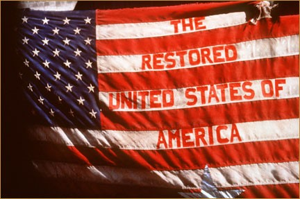 Restored us flag