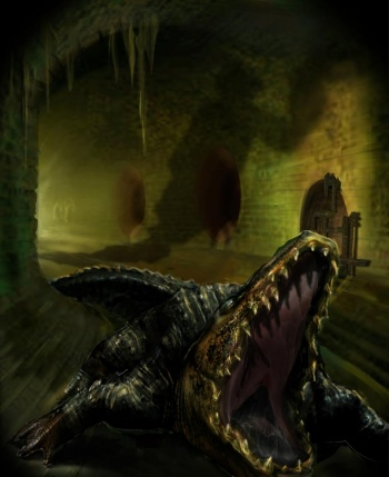 350px creatures sewer alligator