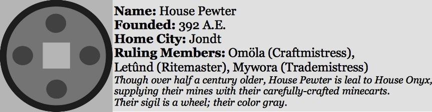 House pewter sidebar