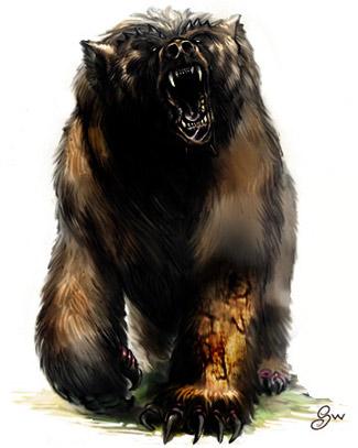 Dire bear smaller