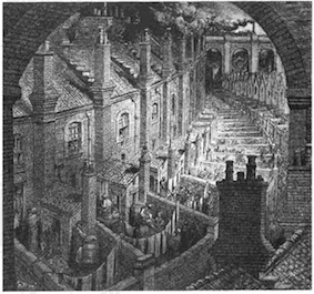 East end london old engraving