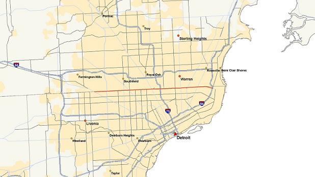 Michigan 102 map