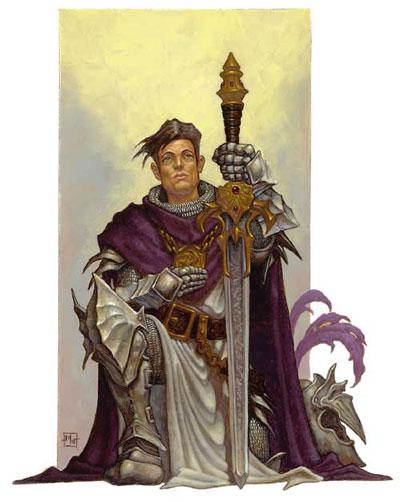 Human male knight