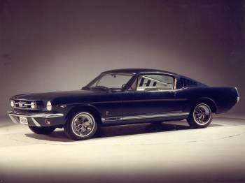1966 ford mustang fastback blue
