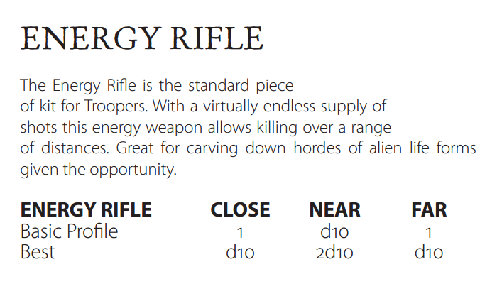 Energy rifle