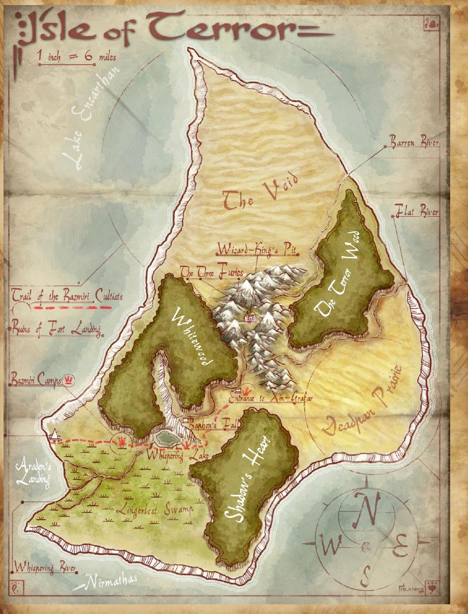 Terror island map