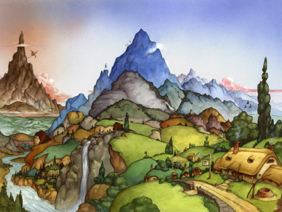 David wenzel the hobbit pic of the shire 2