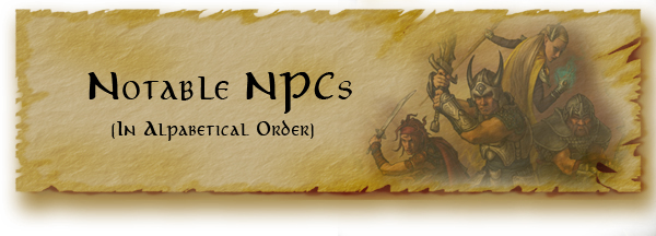 Notable NPCs