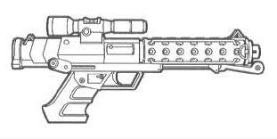 T6 heavy blaster pistol