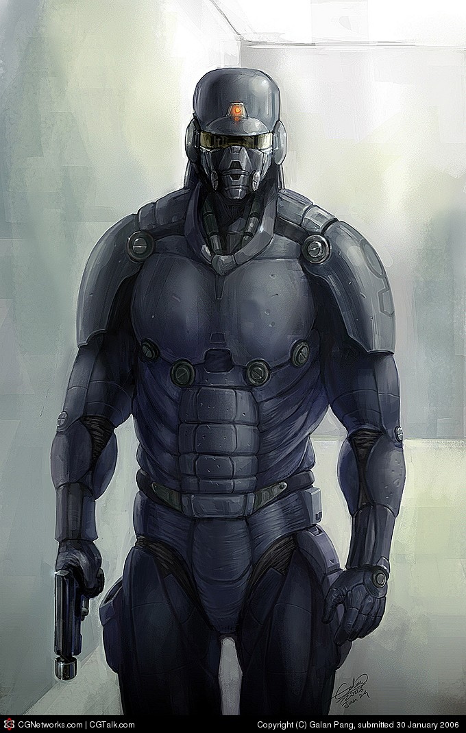Combat hardsuit