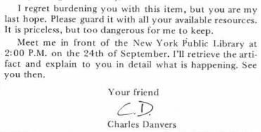 Danvers letter