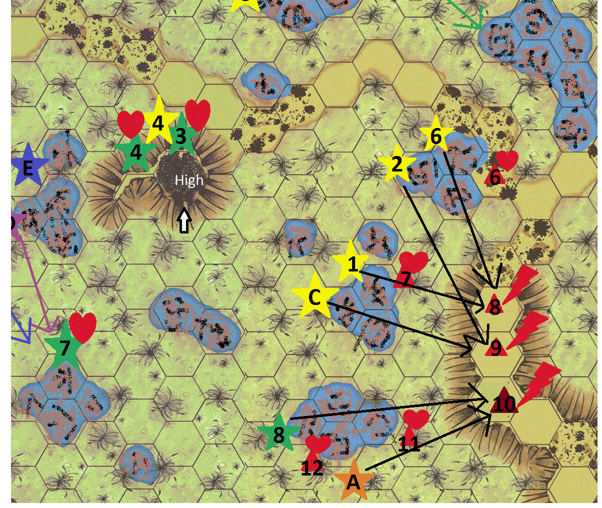Enos desert ambush turn 6 map