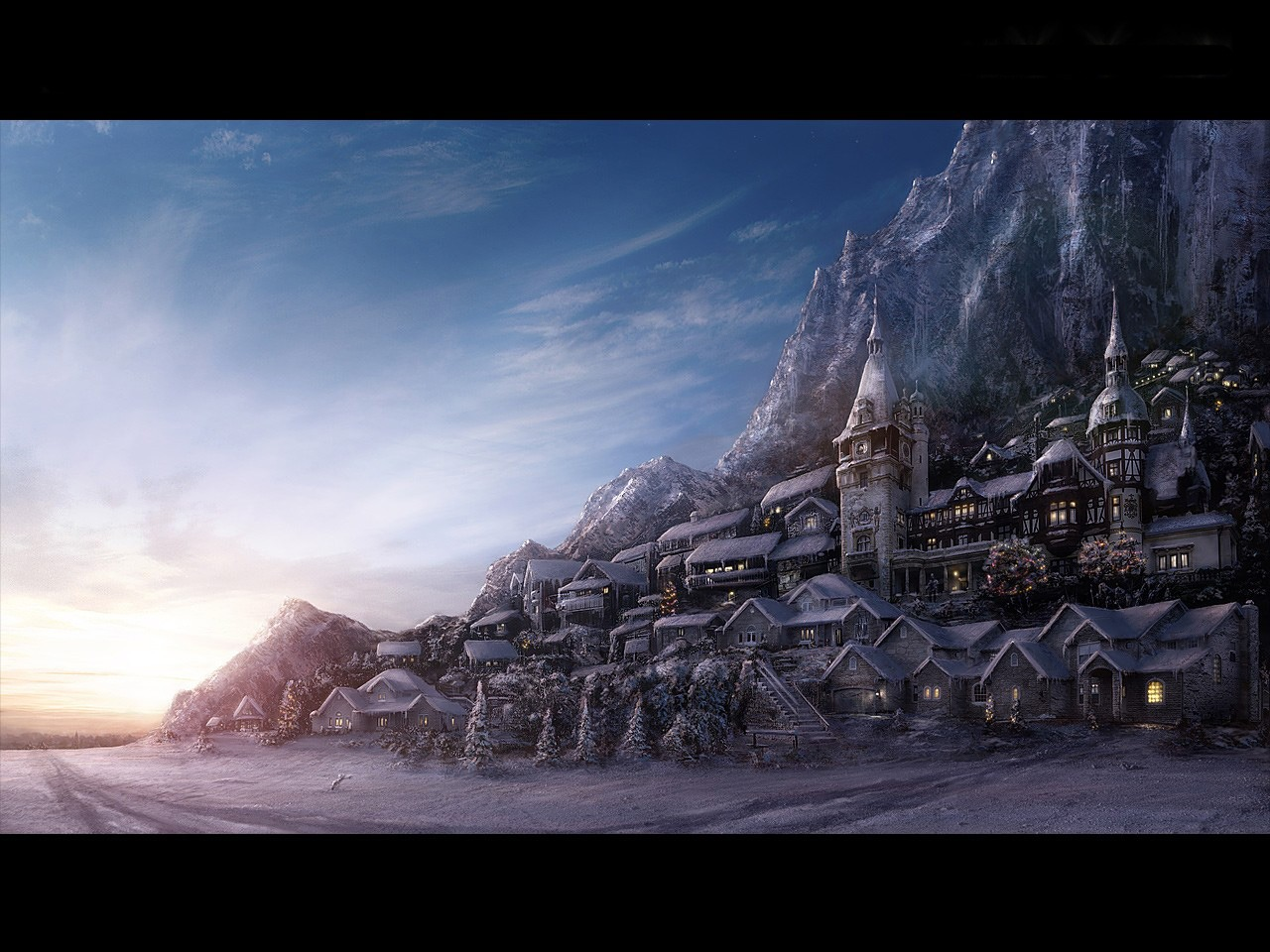 Fantasy town wallpapers 12064 1280x960
