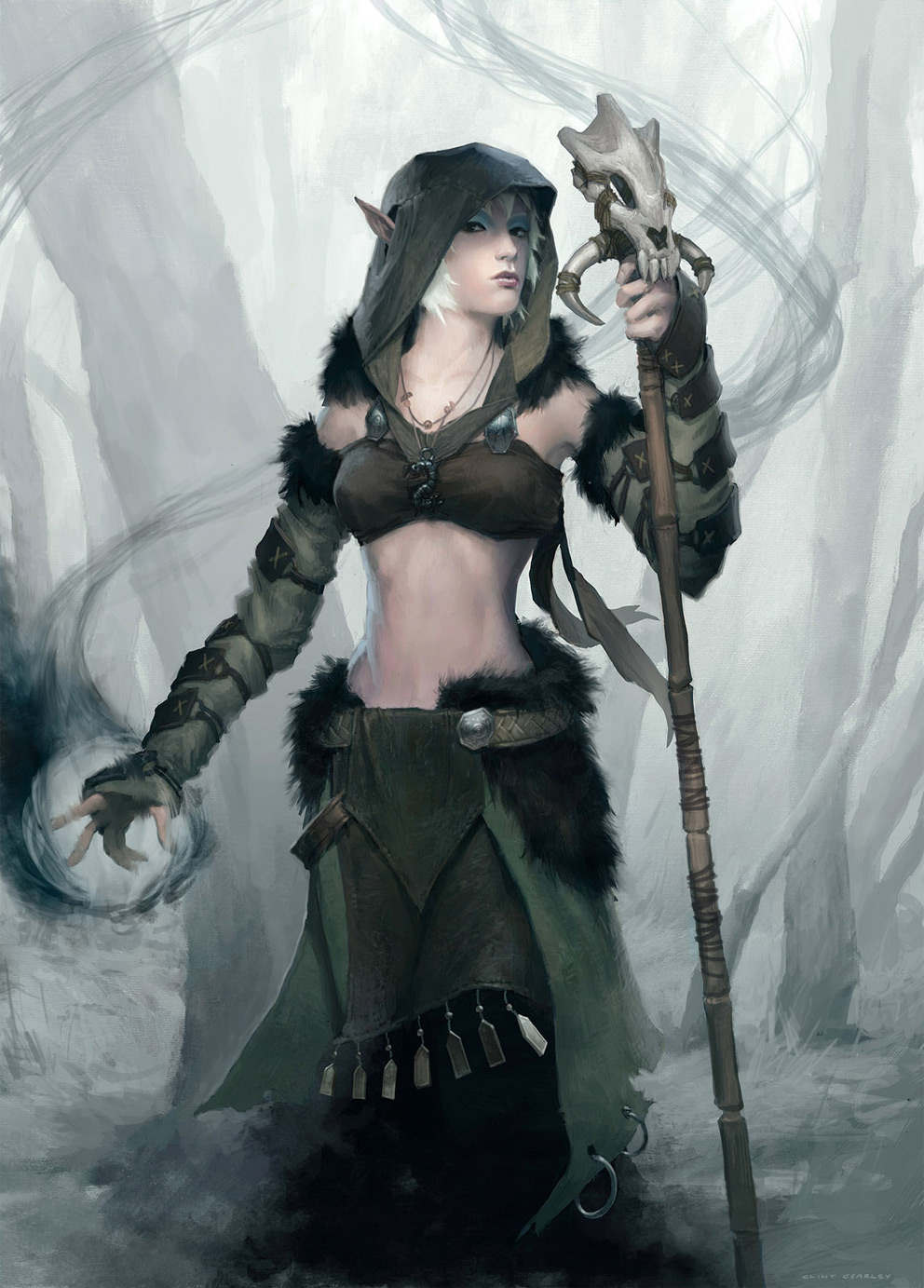 Fantasy art clint cearley elfin druid