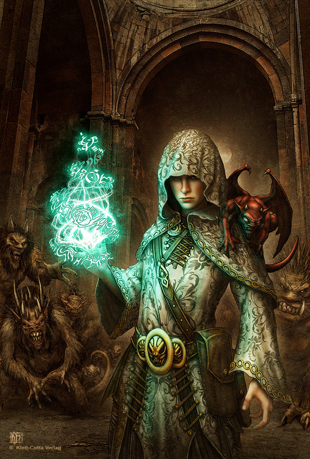 640x947 5086 nicodemus cover 2d fantasy mage demon girl woman picture image digital art