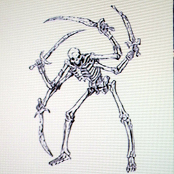 Ddr four armed skeleton