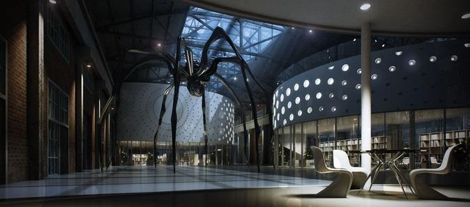 Art museum lobby