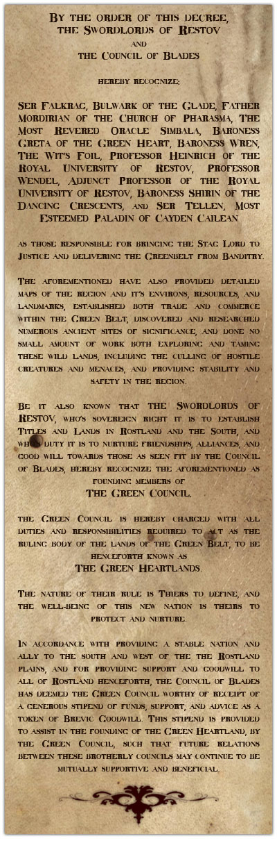 The green heartlands charter