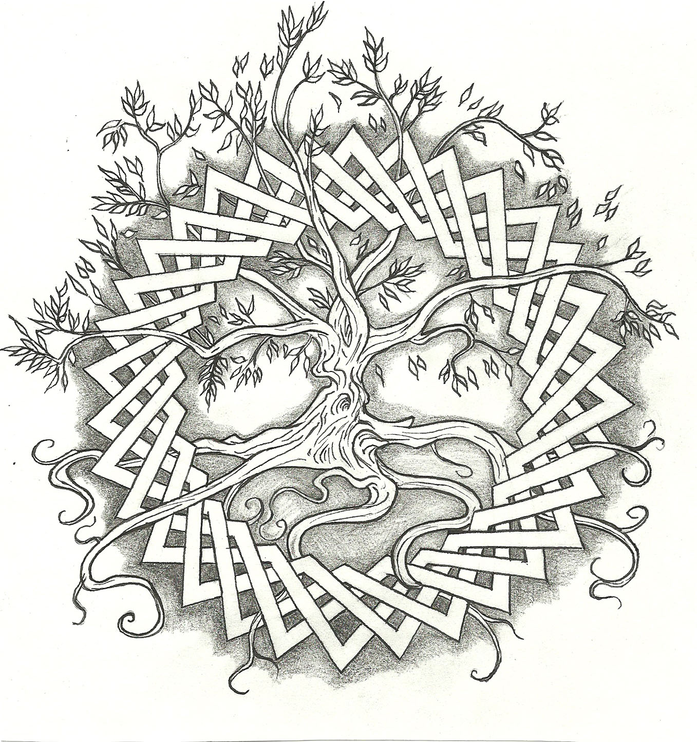 Celtic tree of life by vizualassassin