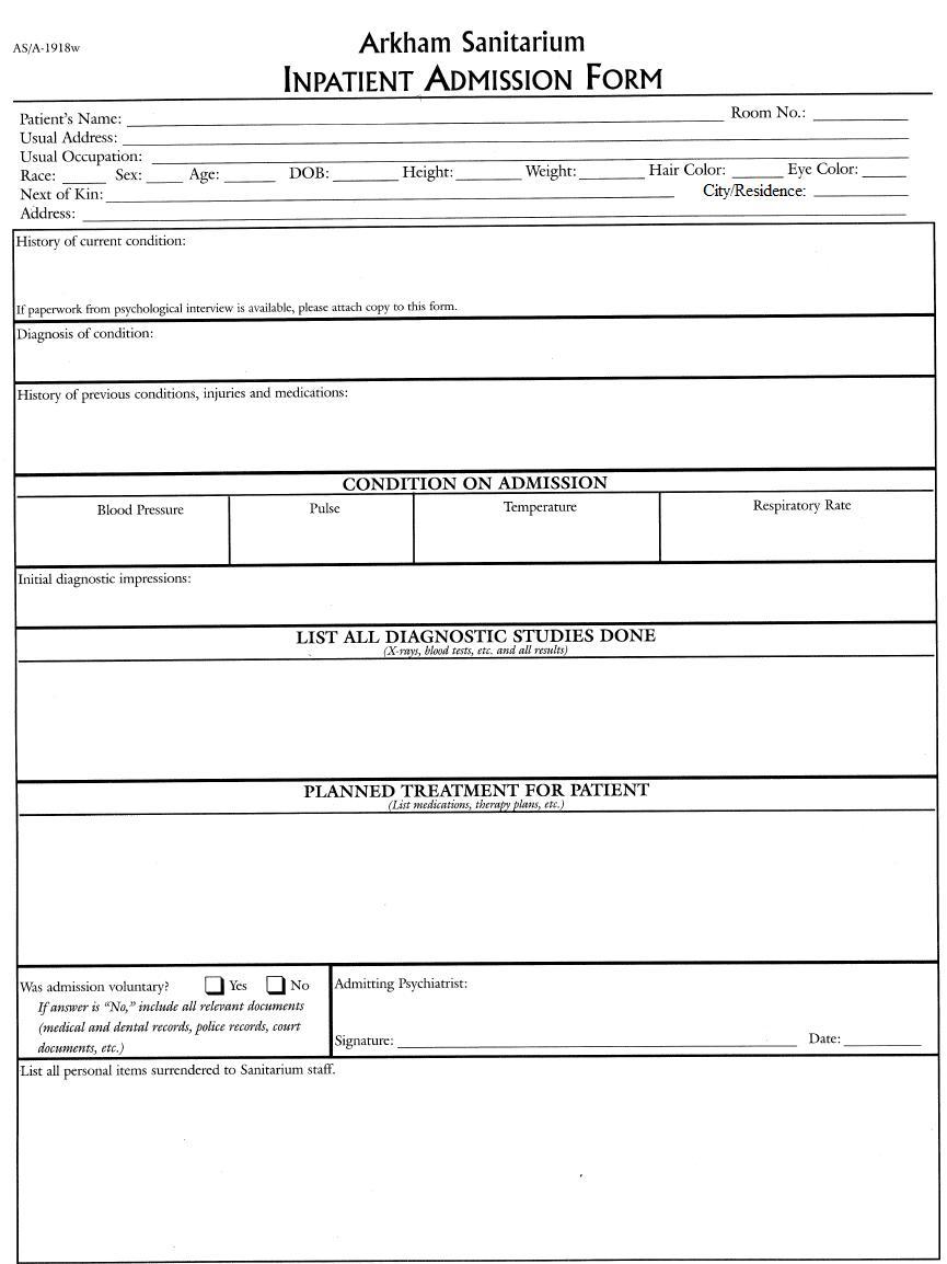 Admin form