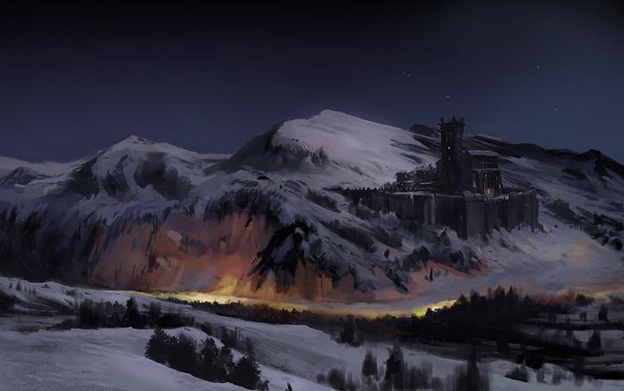 Snowy castle by gerezon d5d1ios