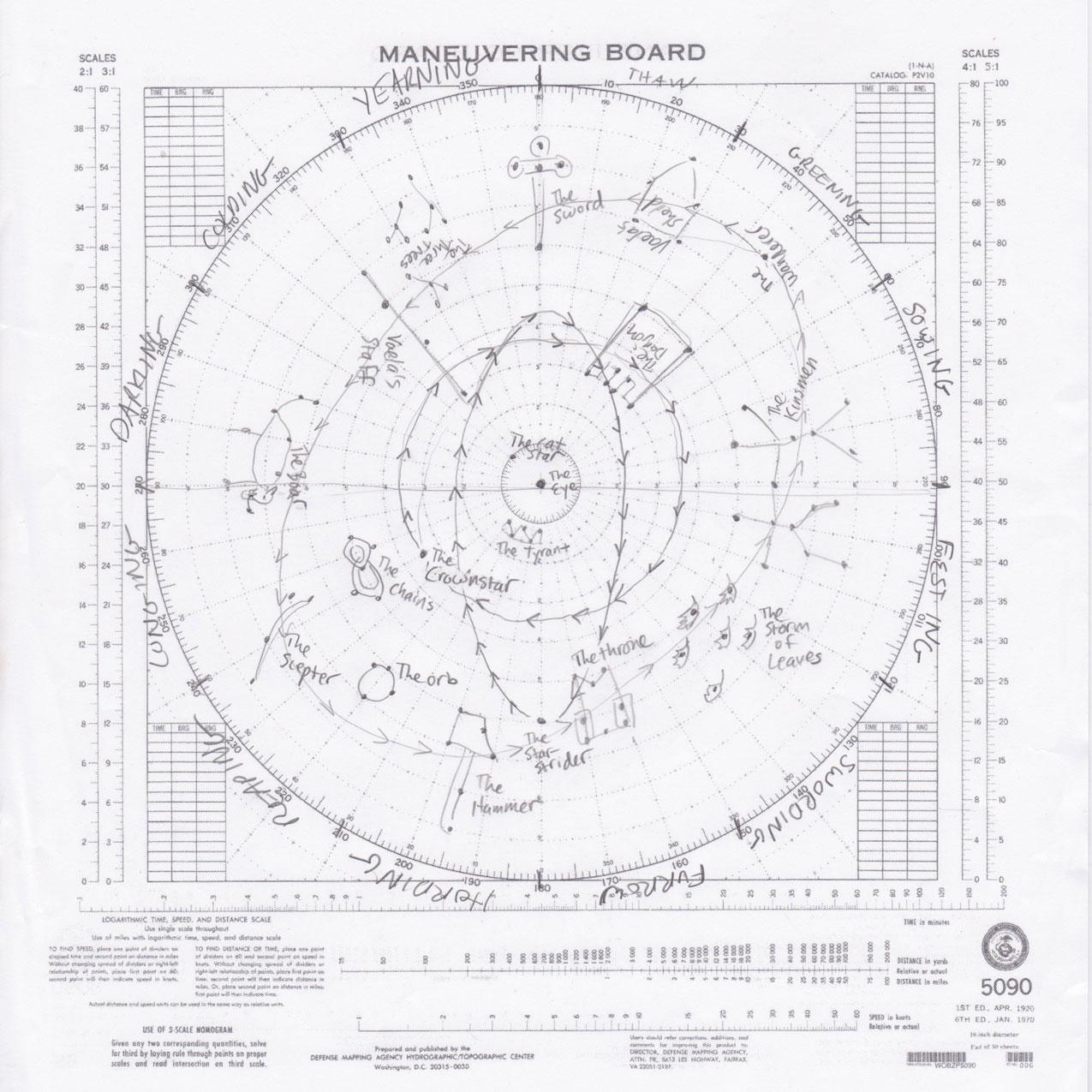 Star chart  arunia