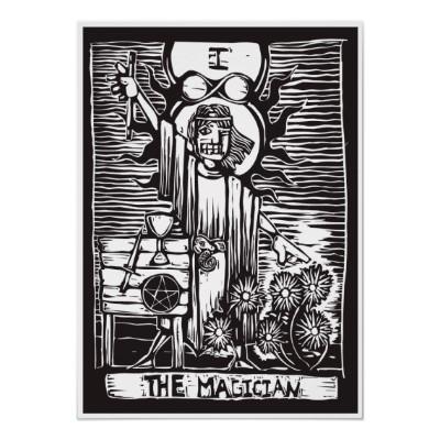 Magician tarot card poster r14dc6fd8fd984755842ed04d39f9980d z4jx 400