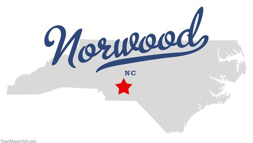 Map of norwood nc