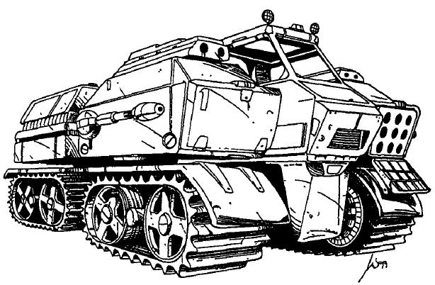 Legion armored snow lion a.p.c.