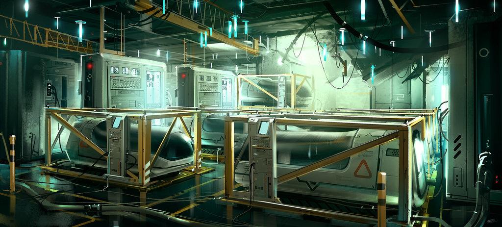 Boat lifepod area deus ex 3 dlc by gryphart d4guwqr