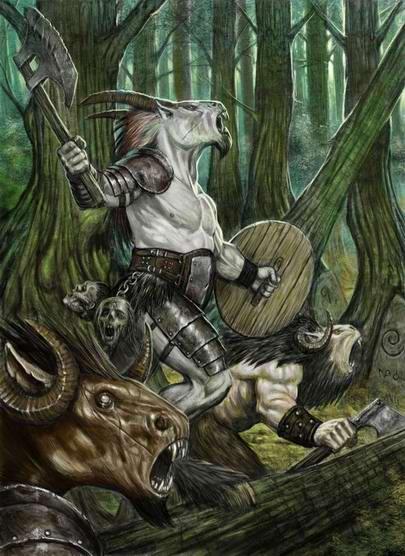 Beastmen in forest