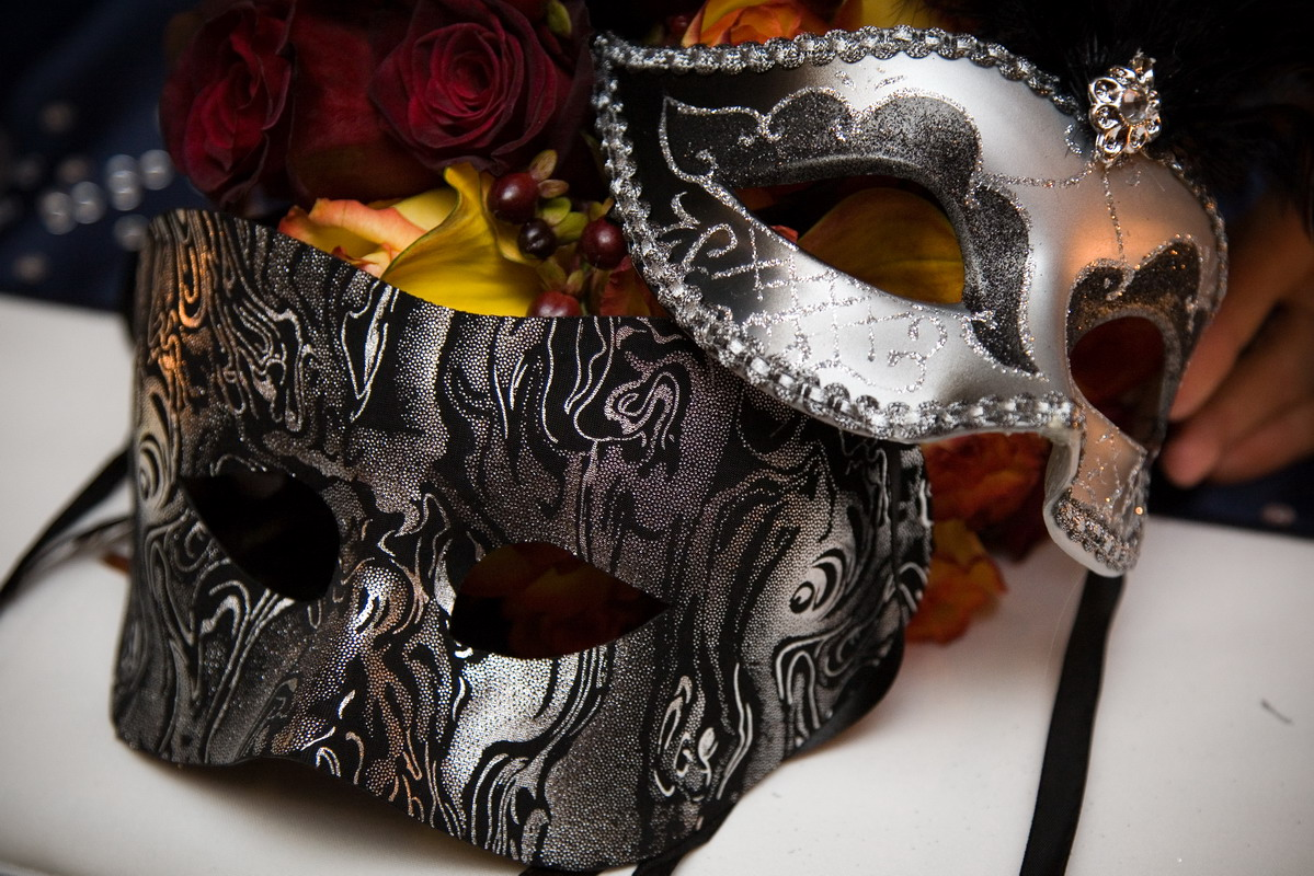 Masquerade wedding masks