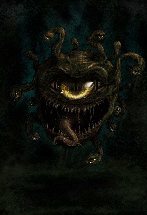 Beholder coloured by natures fury