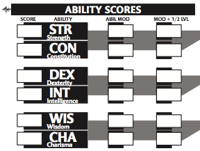 Character sheet 3