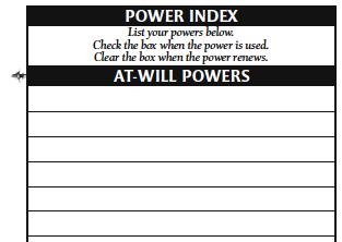Character sheet 12