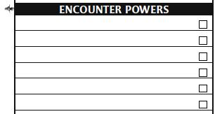 Character sheet 13