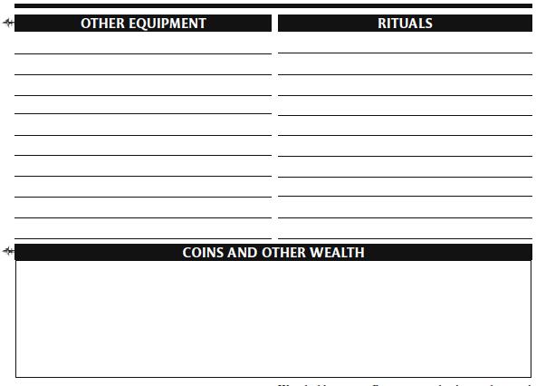 Character sheet 17