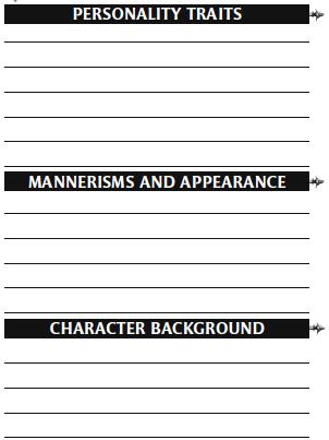 Character sheet 19
