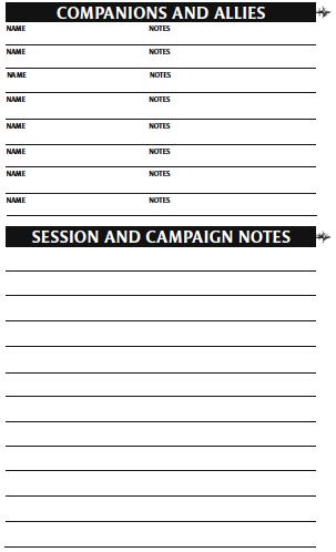 Character sheet 20