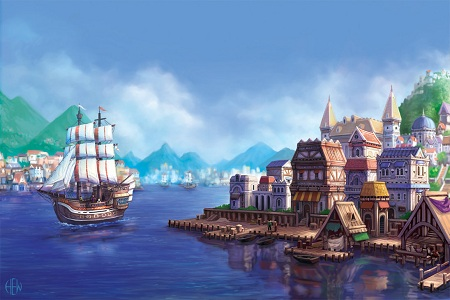 Port city by garygill