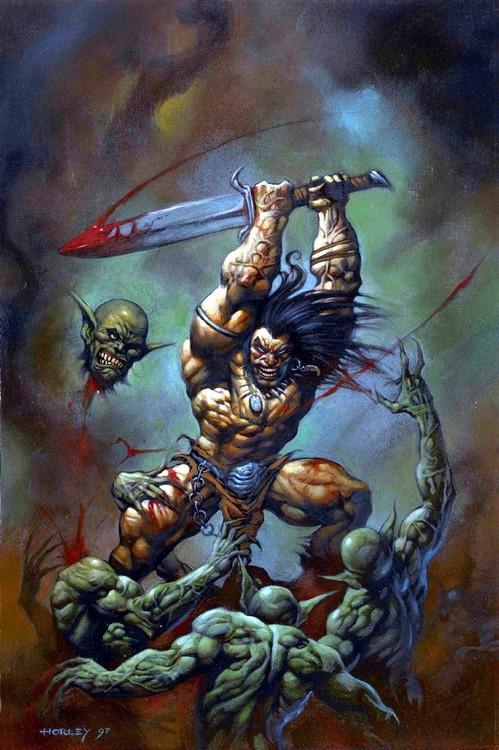 Grunk killing goblins